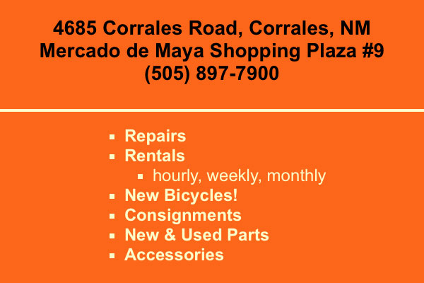 4685 Corrales Road, Corrales, NM Mercado de Maya Shopping Plaza #9 (505) 897-7900